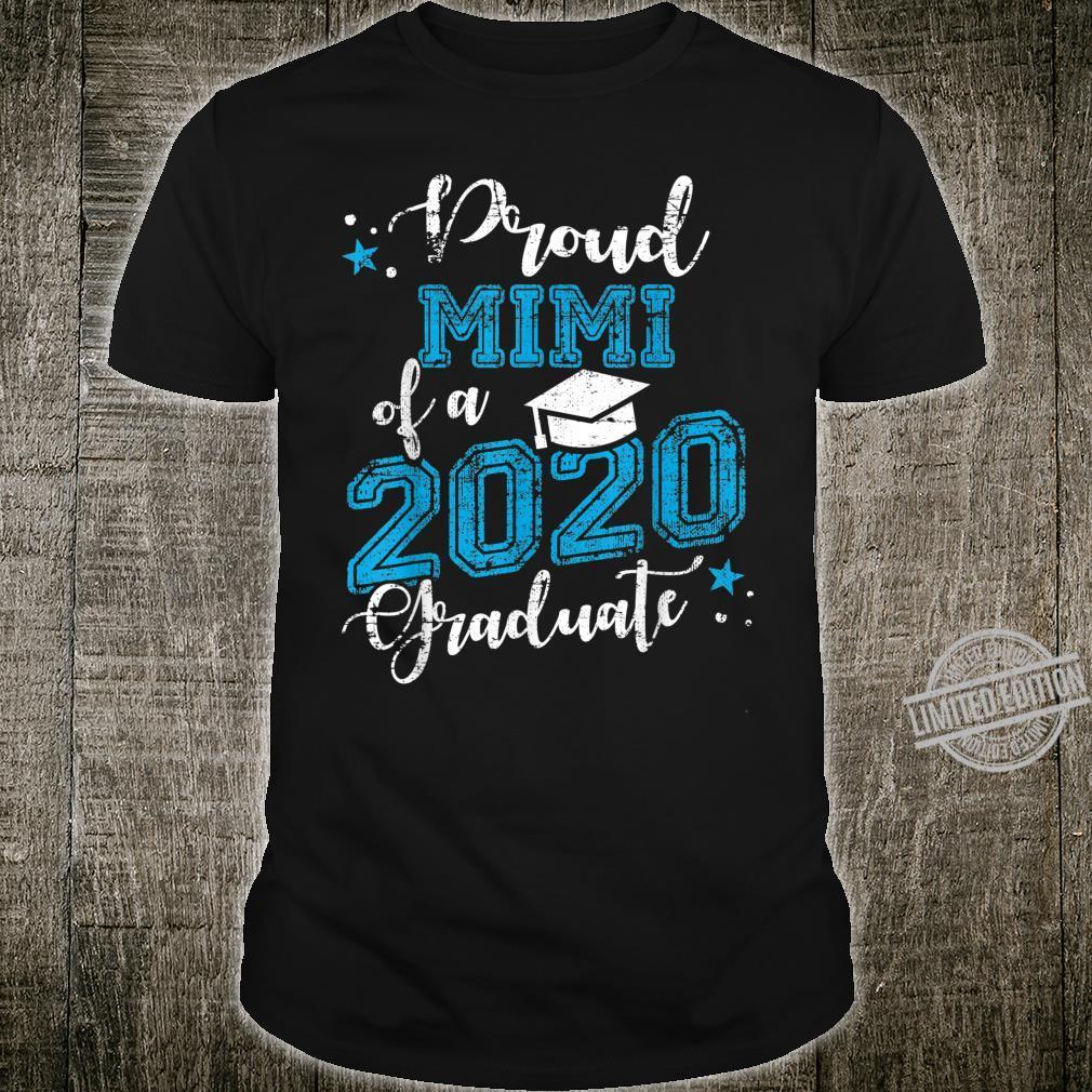 Mens Proud Mimi of a 2020 Graduate Blue Vintage Shirt