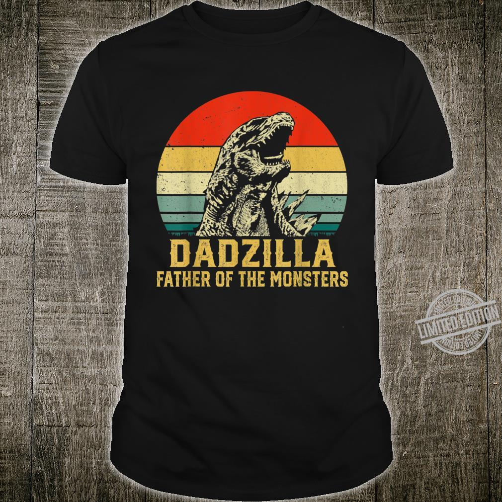 Mens Retro Vintage Dadzilla Father Of The Monsters Shirt