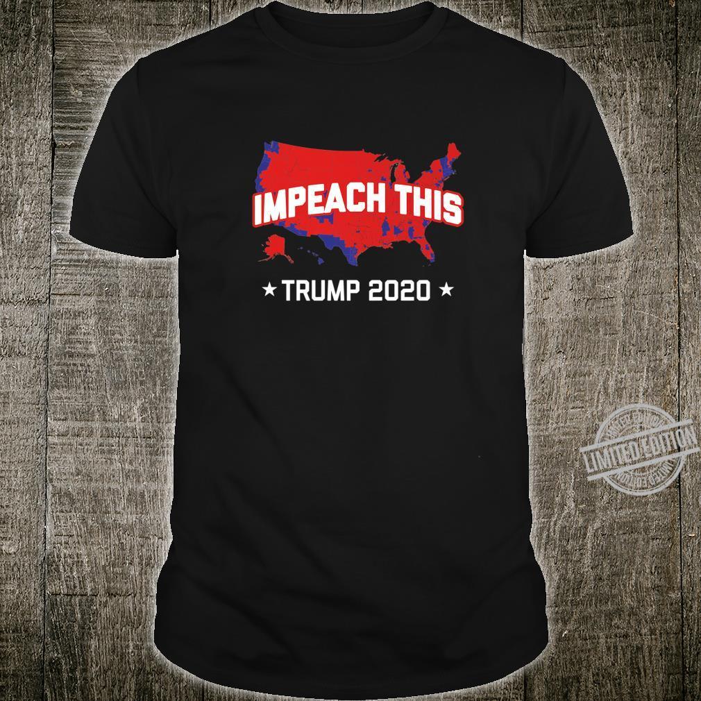 Mens USA Map Impeach This Trump Shirt