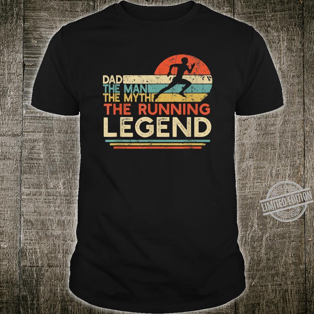 Mens Vintage Running Dad The Man The Myth The Legend Runner Shirt