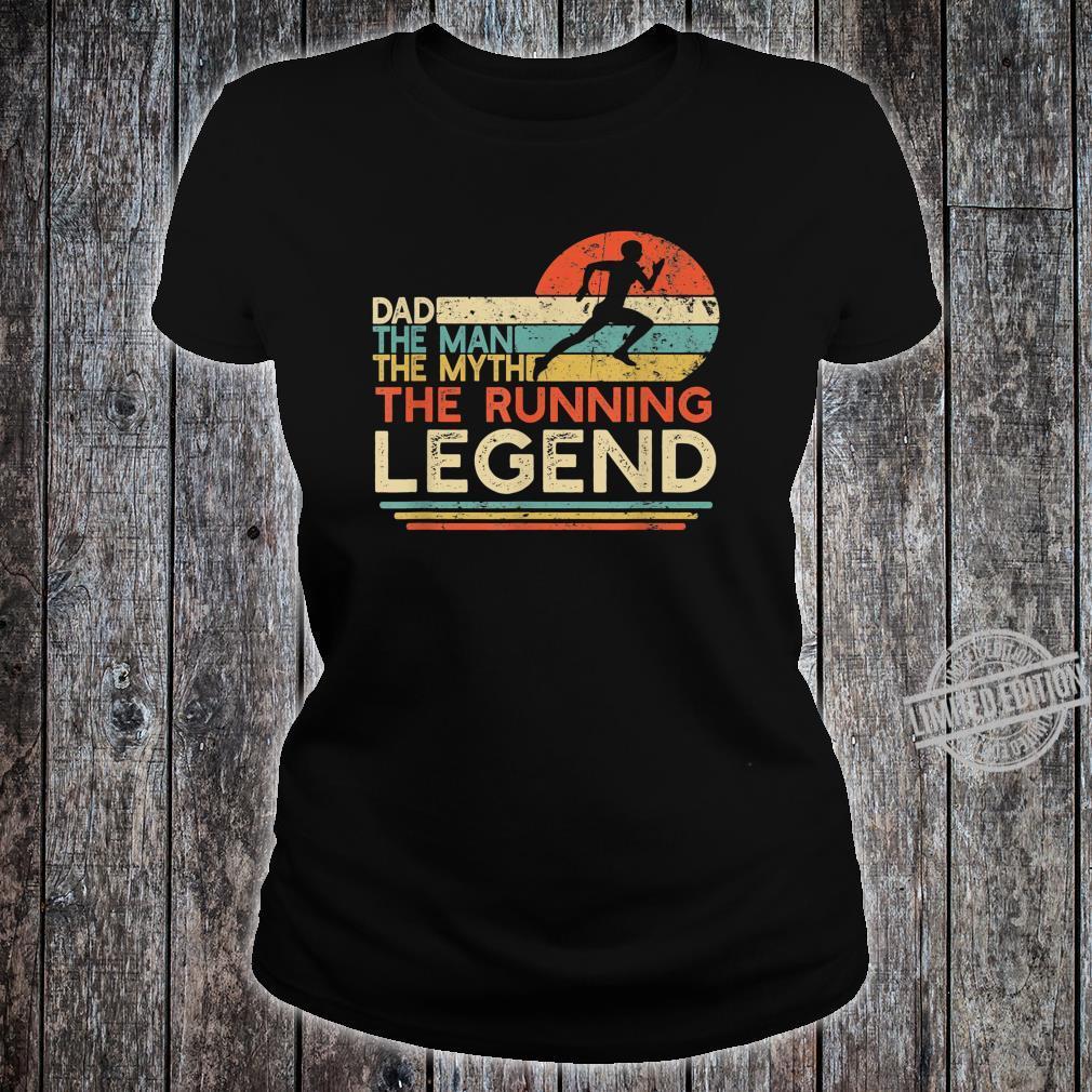Mens Vintage Running Dad The Man The Myth The Legend Runner Shirt ladies tee