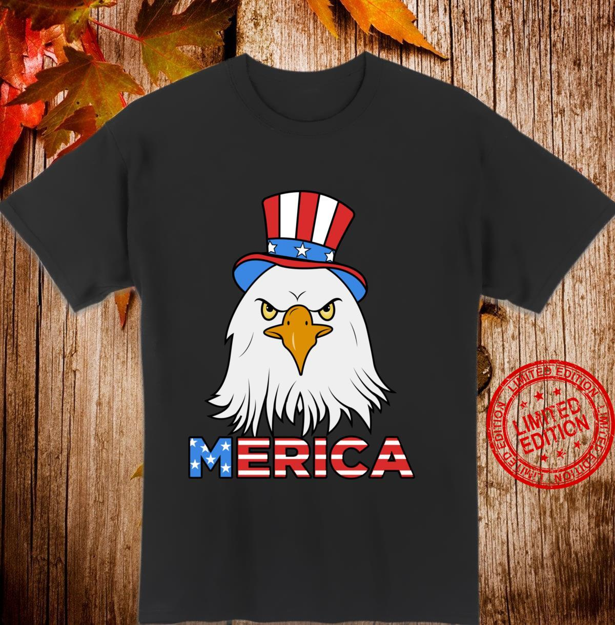 Merica Eagle Cap Shirt