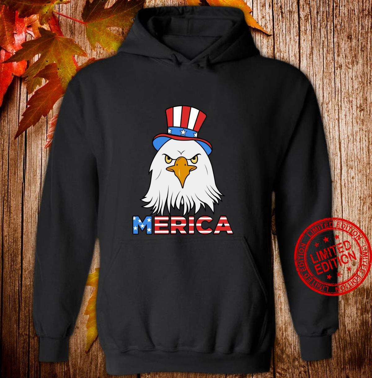 Merica Eagle Cap Shirt hoodie