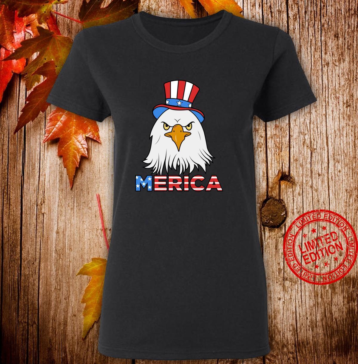 Merica Eagle Cap Shirt ladies tee