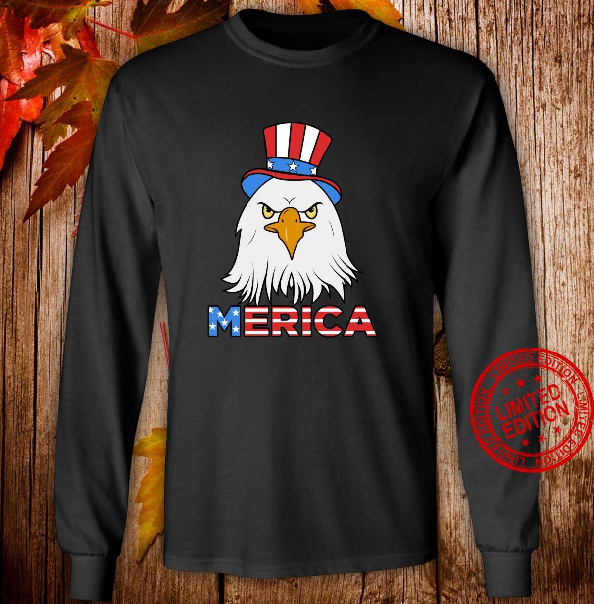 Merica Eagle Cap Shirt long sleeved