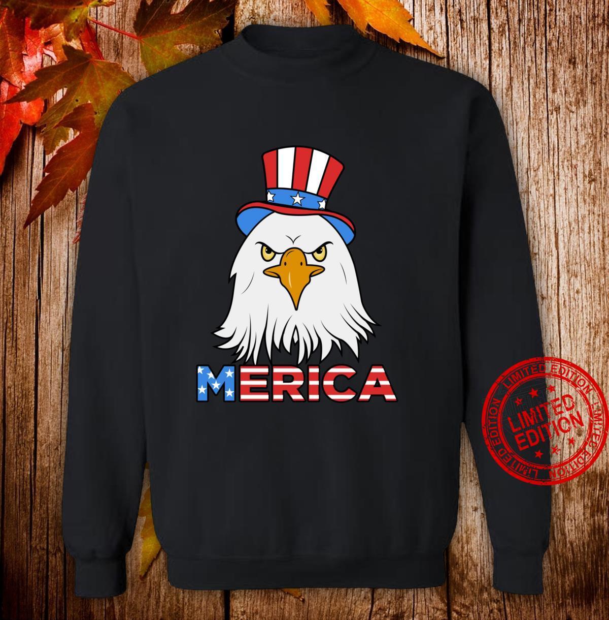 Merica Eagle Cap Shirt sweater