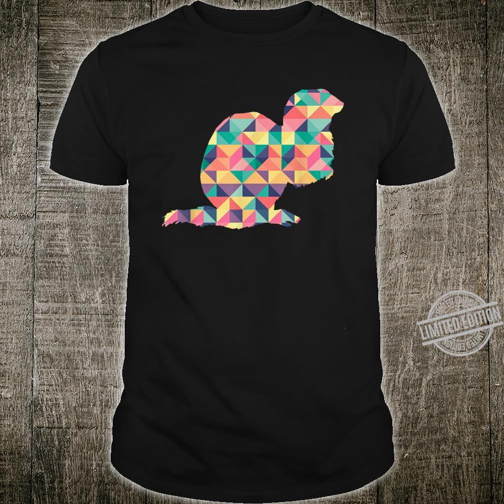 Mink Abstract Color Summer Weasel Otter Girl Shirt