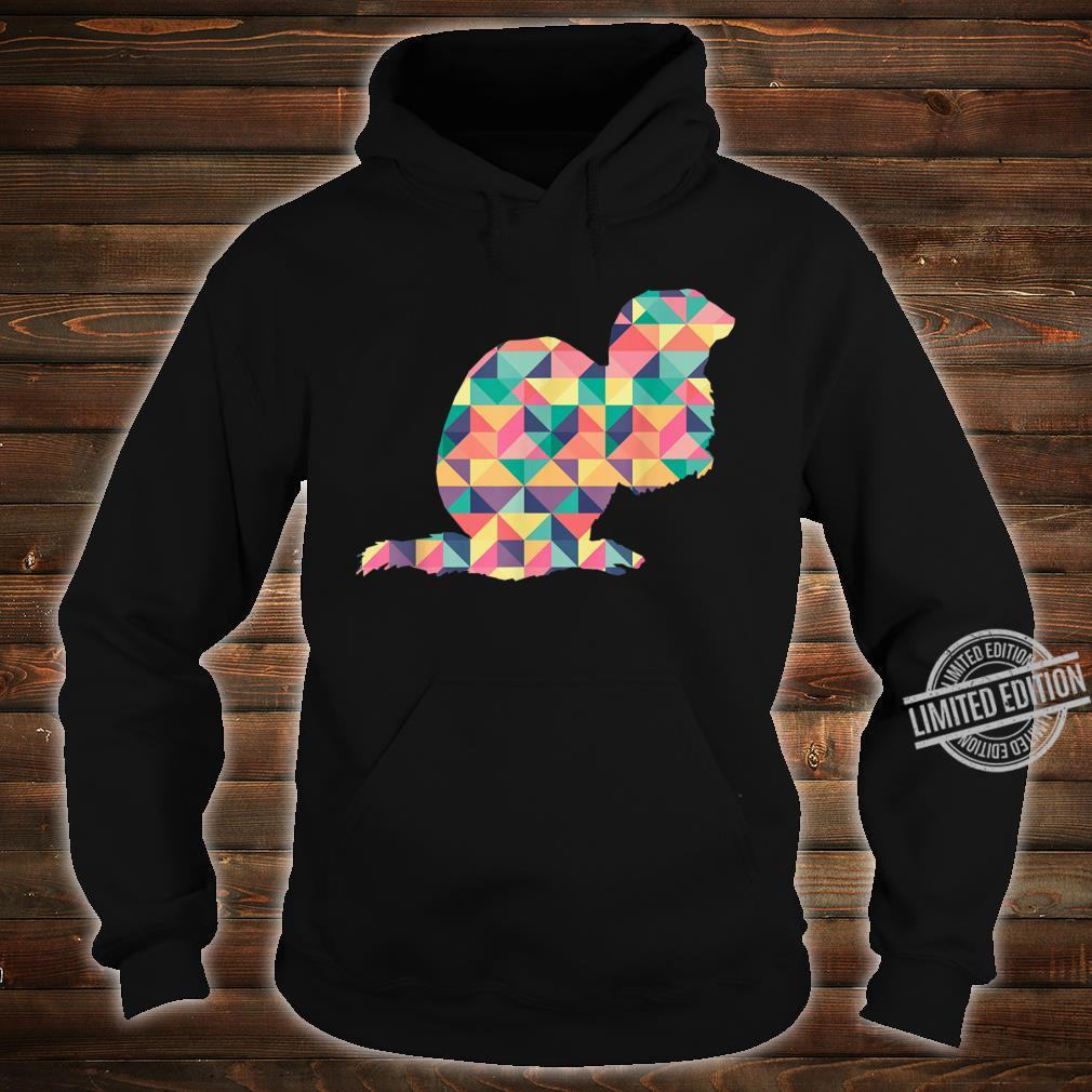 Mink Abstract Color Summer Weasel Otter Girl Shirt hoodie