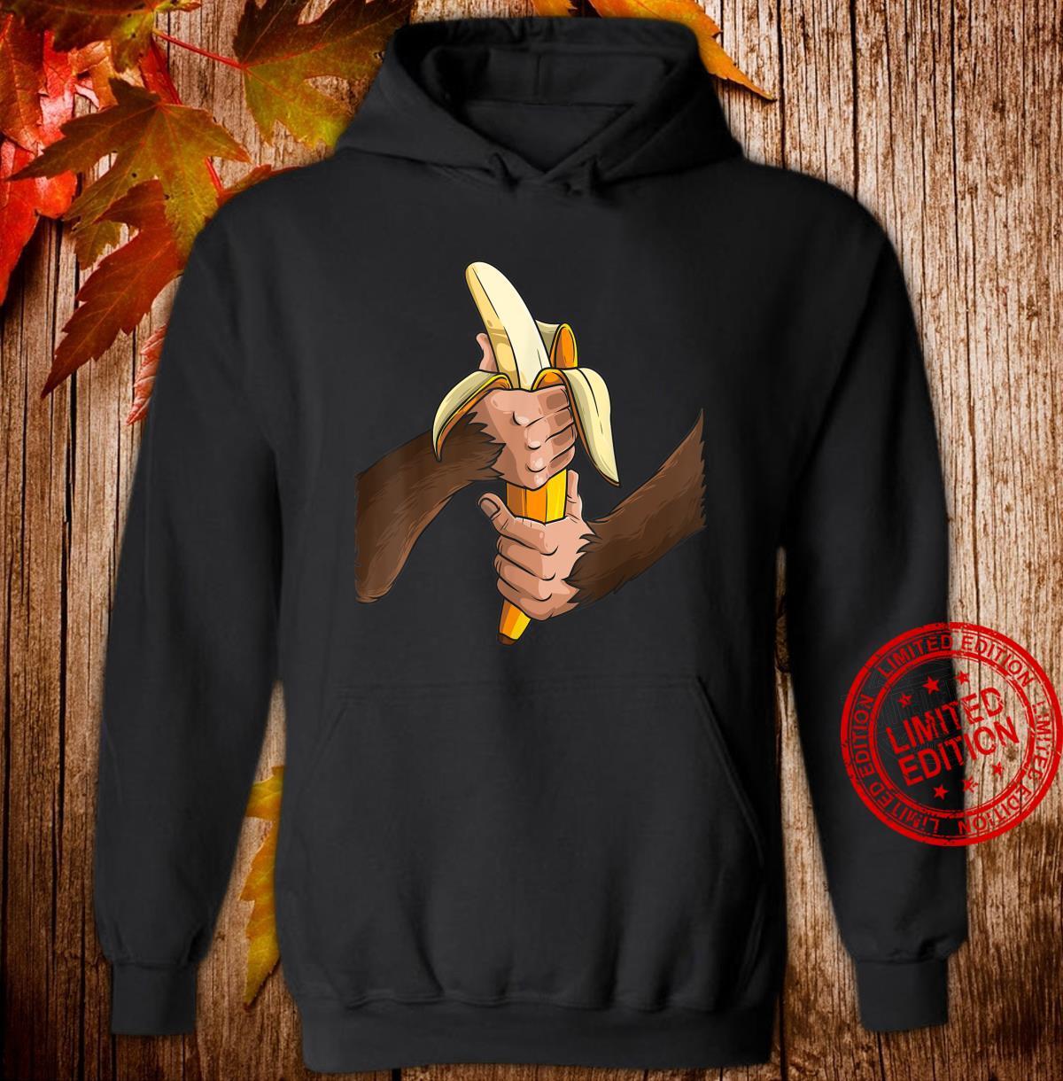 Monkey Halloween Costume Arms Banana Cool Shirt hoodie