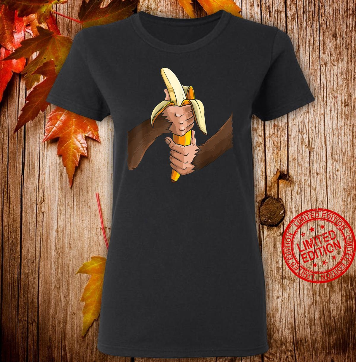 Monkey Halloween Costume Arms Banana Cool Shirt ladies tee