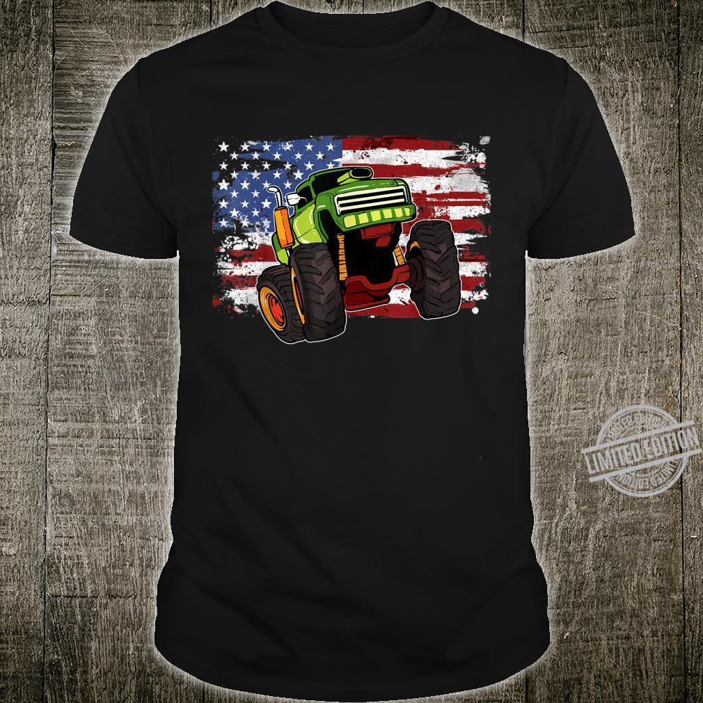 Monster Truck American Flag USA Shirt
