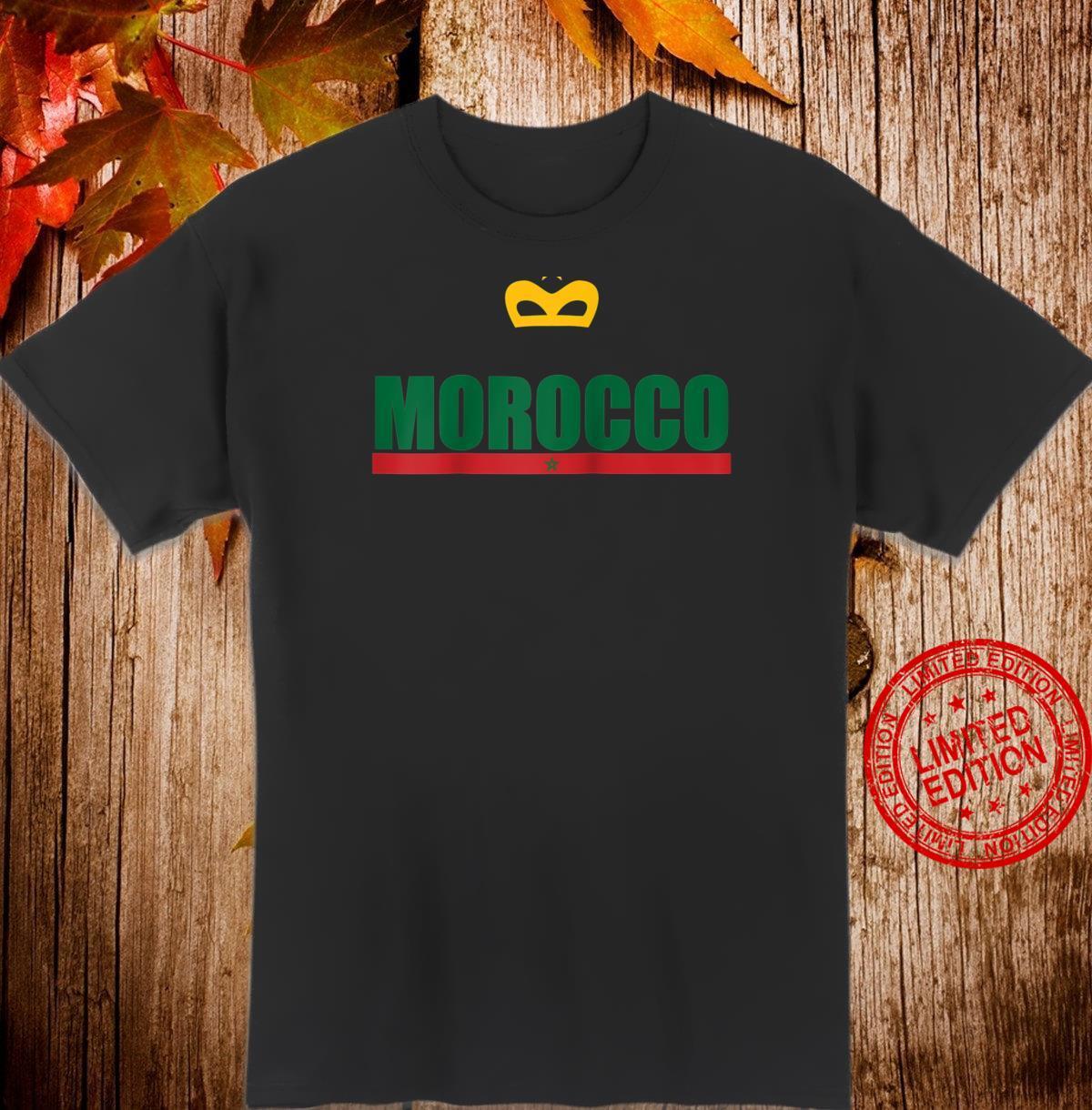 Moroccan National Flag Souvenir Green Pentagram Of Morocco Shirt