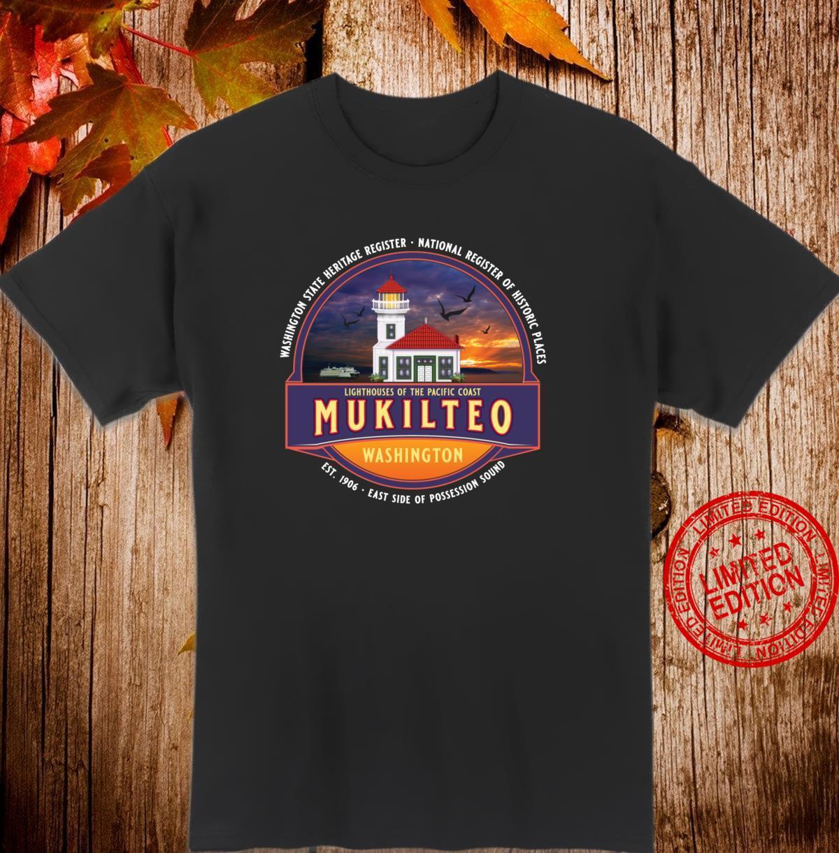 Mukilteo Washington Lighthouse Park Harbor Beach Ferry Boat Shirt