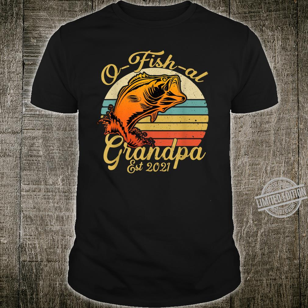 O fish al Grandpa Fishing Baby Pregnancy Announcement 2021 Shirt