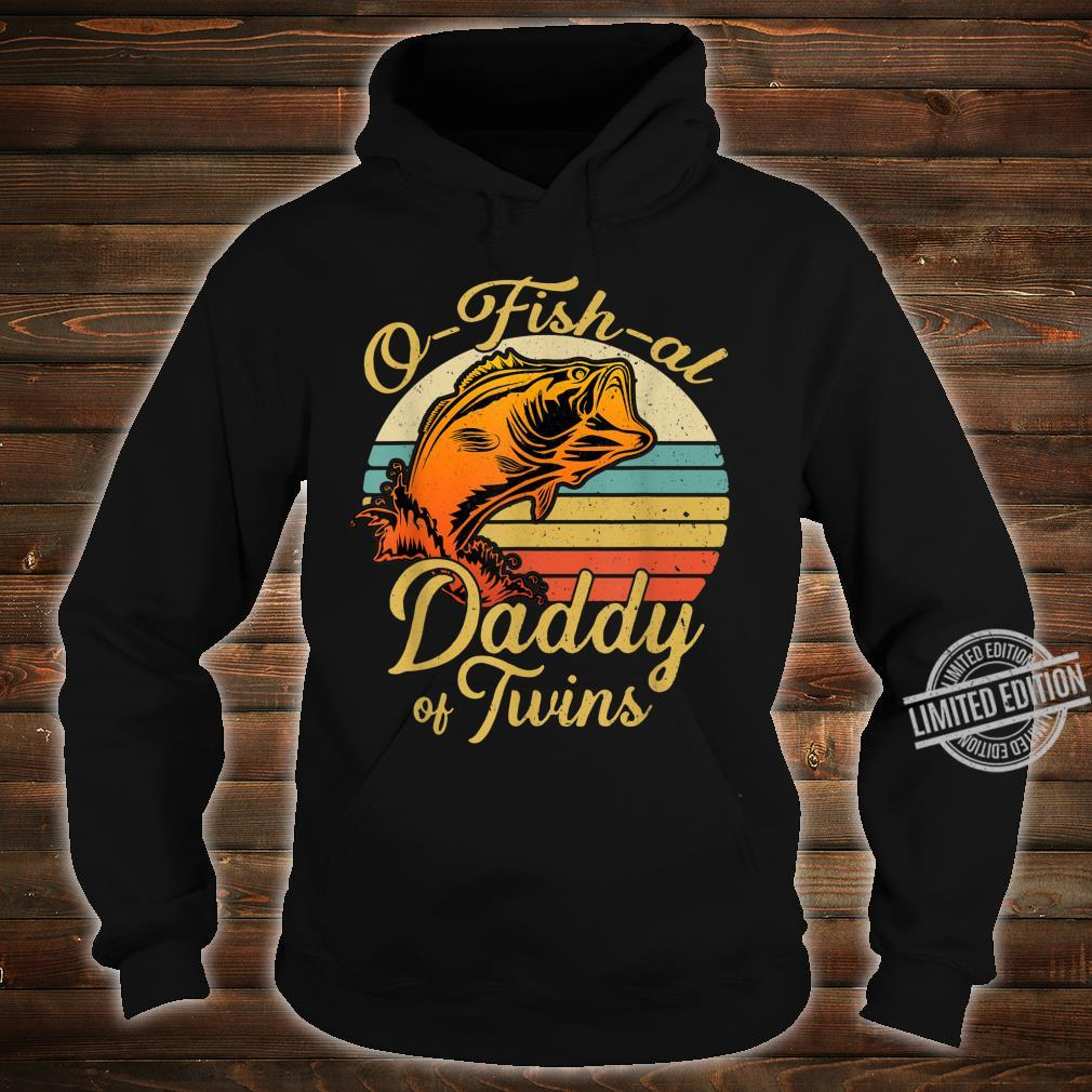 Ofishal Daddy of Twins Dad Baby Pregnancy Announcement Shirt hoodie