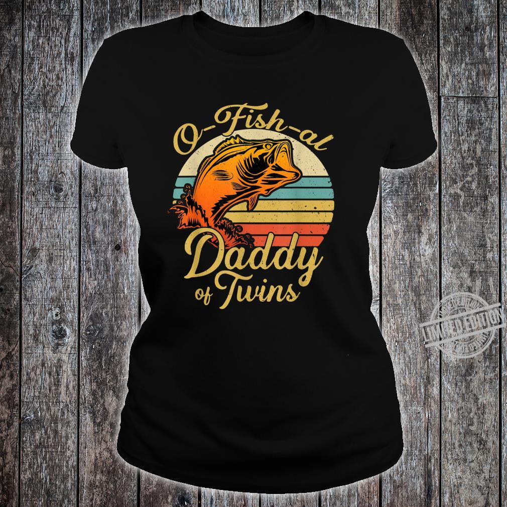 Ofishal Daddy of Twins Dad Baby Pregnancy Announcement Shirt ladies tee