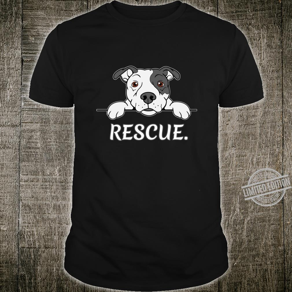 Pitbull Rescue Geschenk Pit Bull Liebhaber Pitbulls Shirt
