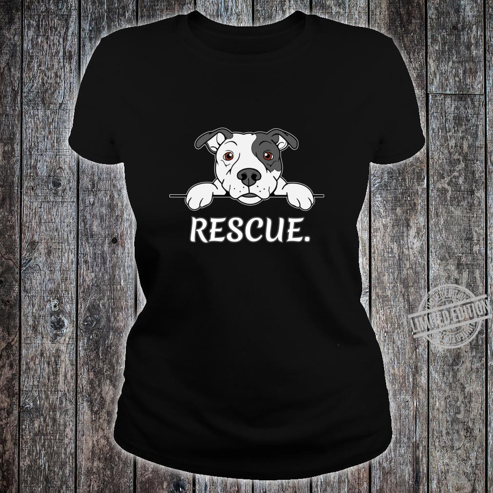 Pitbull Rescue Geschenk Pit Bull Liebhaber Pitbulls Shirt ladies tee