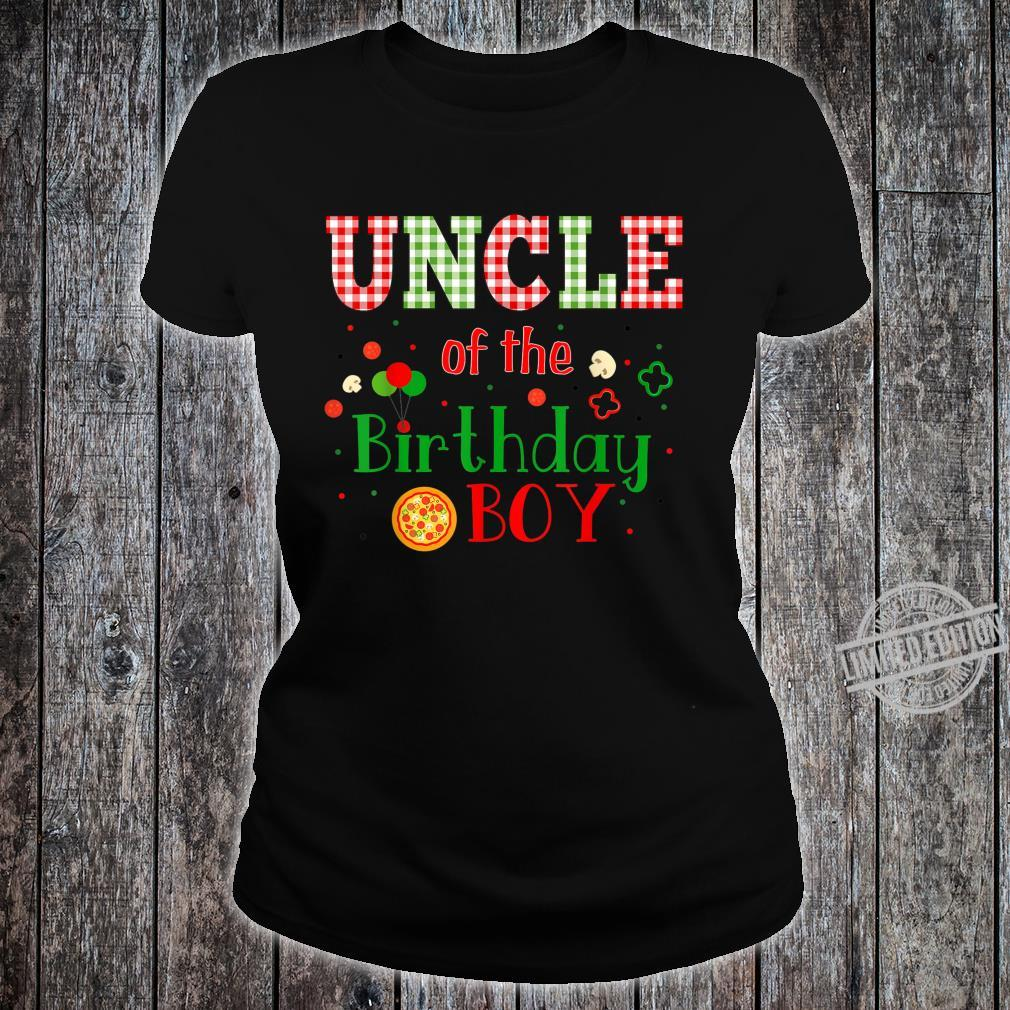 Pizza Birthday Party Themed Matching Family Group Shirt ladies tee