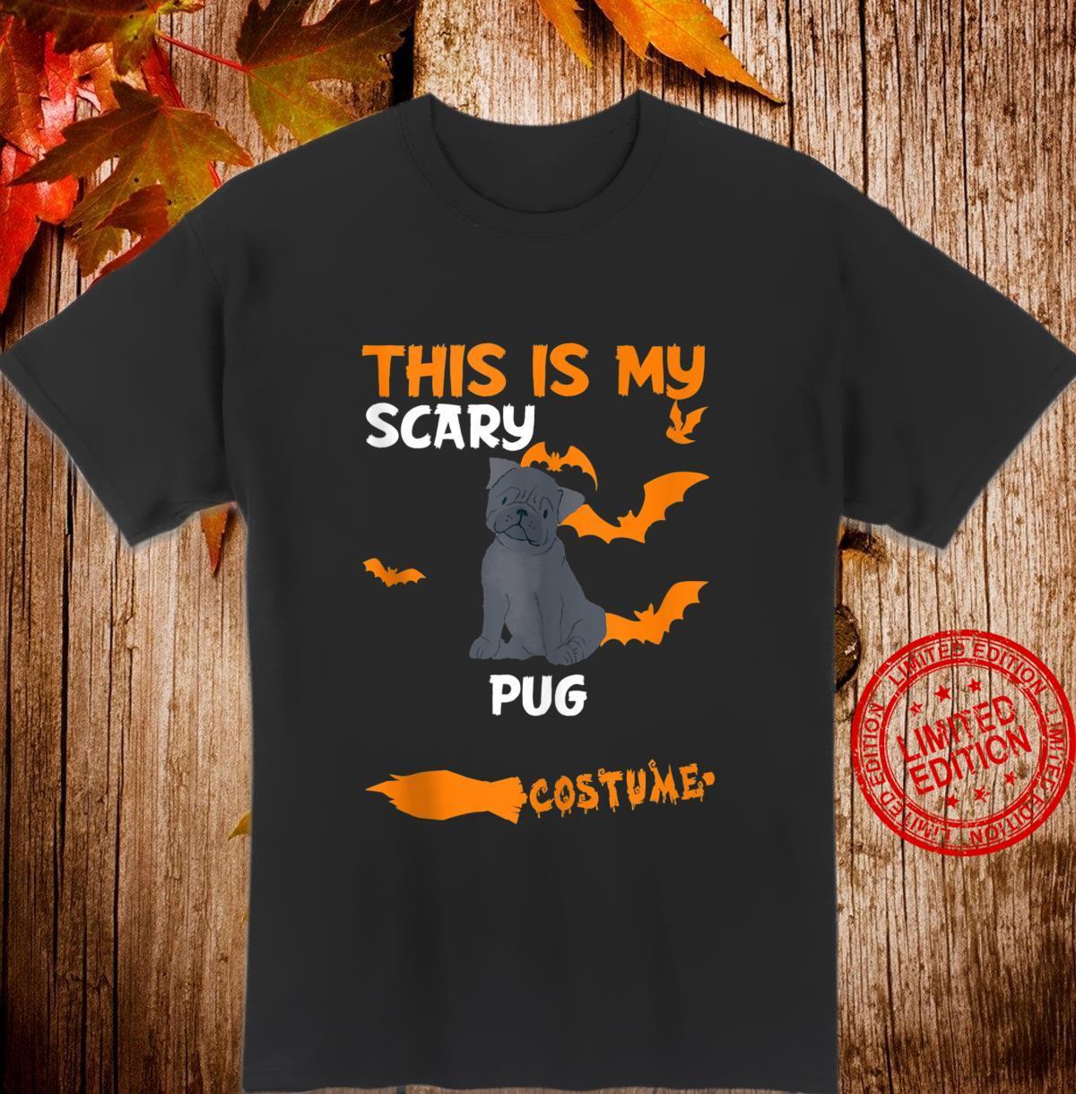 Pug Black Costume Halloween Lazy Scary Dog Shirt