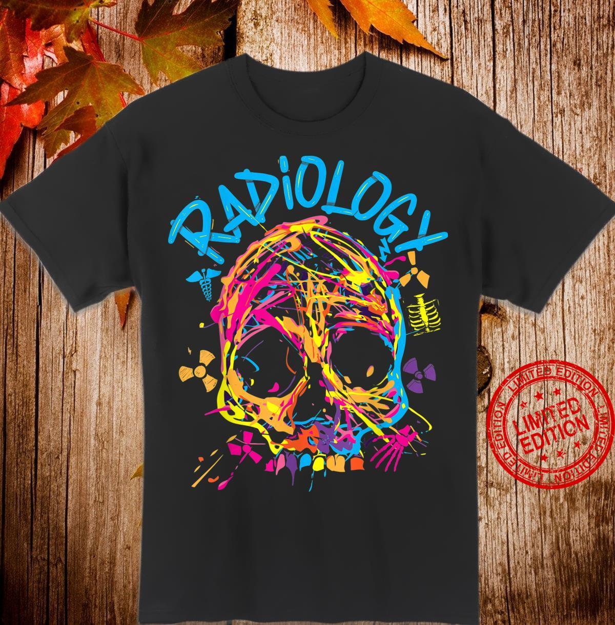 Radiology Color Splat Skull Shirt