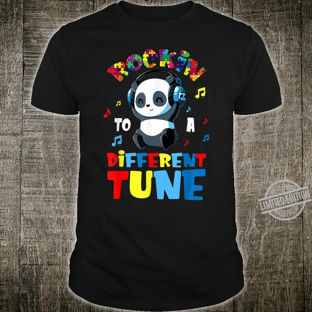 Rockin' To A Different Tune Panda Autism Awareness Shirt