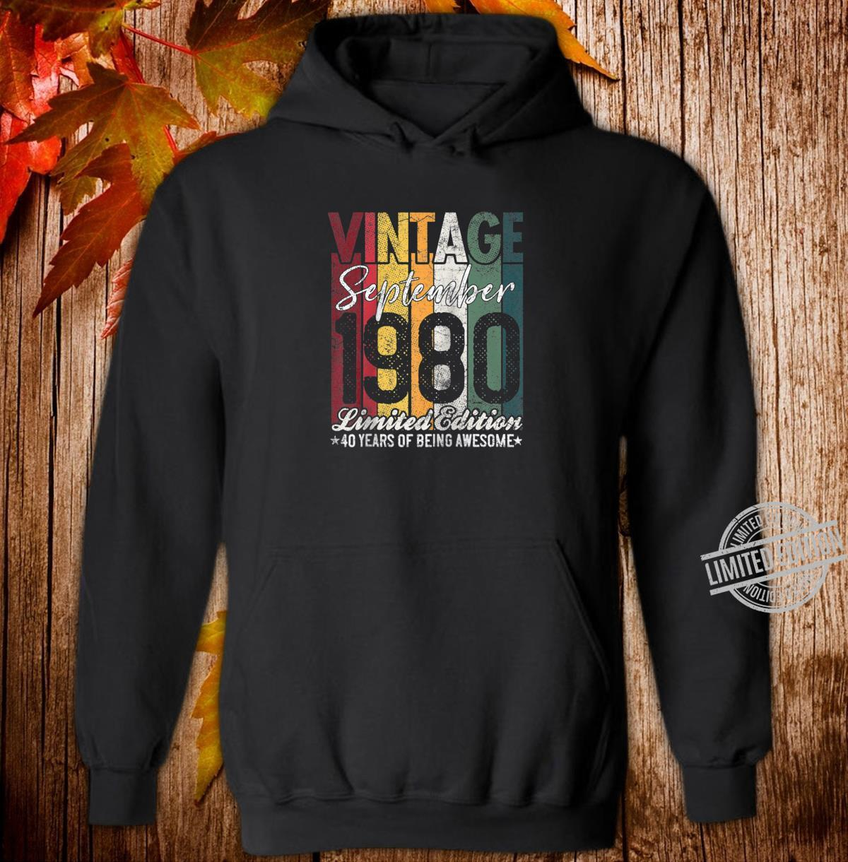 September 1980 40 Years of Being Awesome 40th Birthday Shirt hoodie