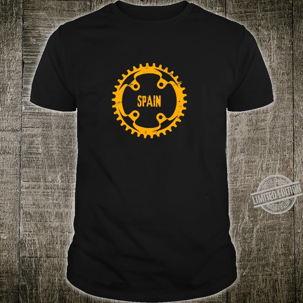 Spain Vintage Retro Bike Cog Shirt