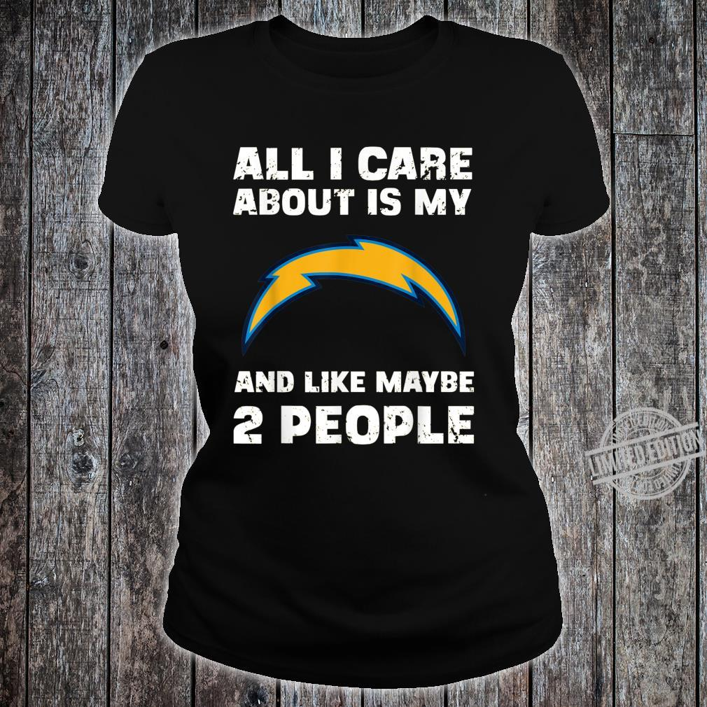 St Patricks Day All I Care Is My Football LosAngelesCharger Shirt ladies tee