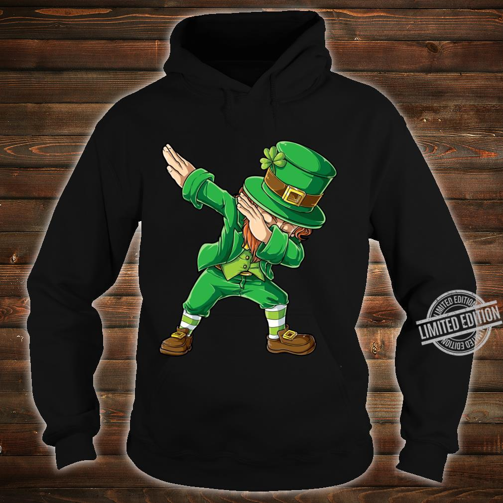 St Patricks Day Dabbing Leprechaun Boys Dab Shirt hoodie