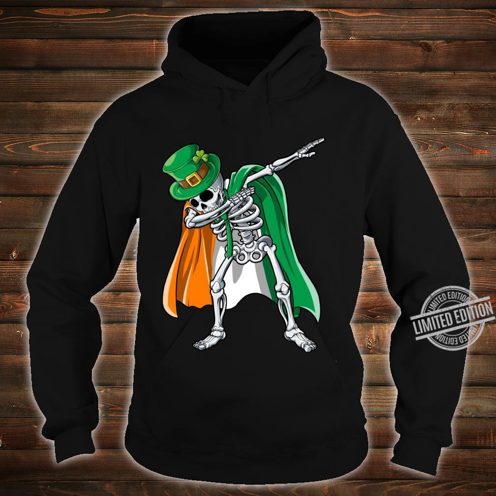 St Patricks Day Dabbing Skeleton Boys Irish Flag Shirt hoodie