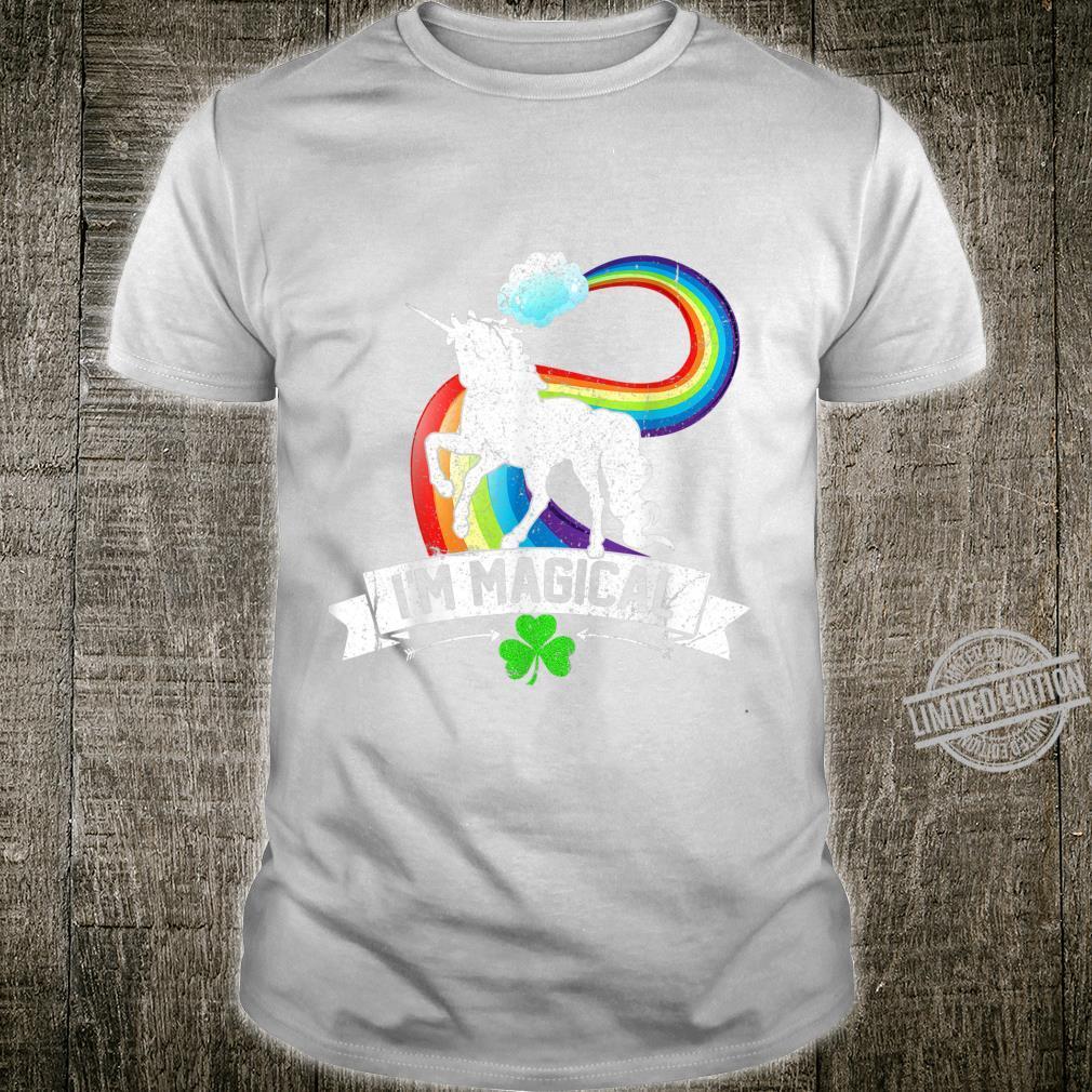 St Patricks Day Magical Rainbow Unicorn Girls Shirt
