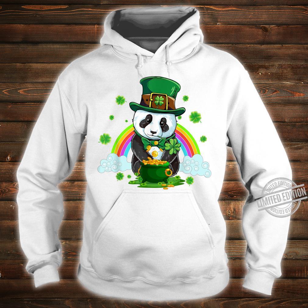 St Patricks Day Panda Leprechaun Irish Shamrock Shirt hoodie