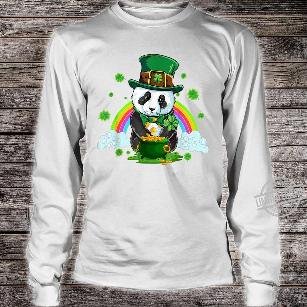 St Patricks Day Panda Leprechaun Irish Shamrock Shirt long sleeved