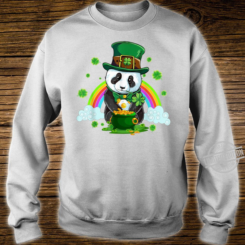 St Patricks Day Panda Leprechaun Irish Shamrock Shirt sweater