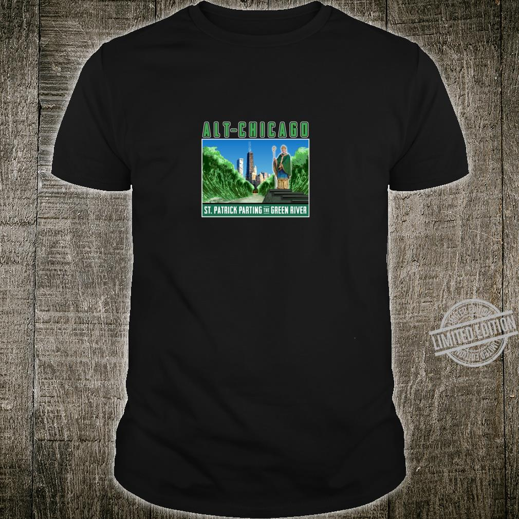 St. Patrick's Day Passover Green Chicago River Fun Crossing Shirt