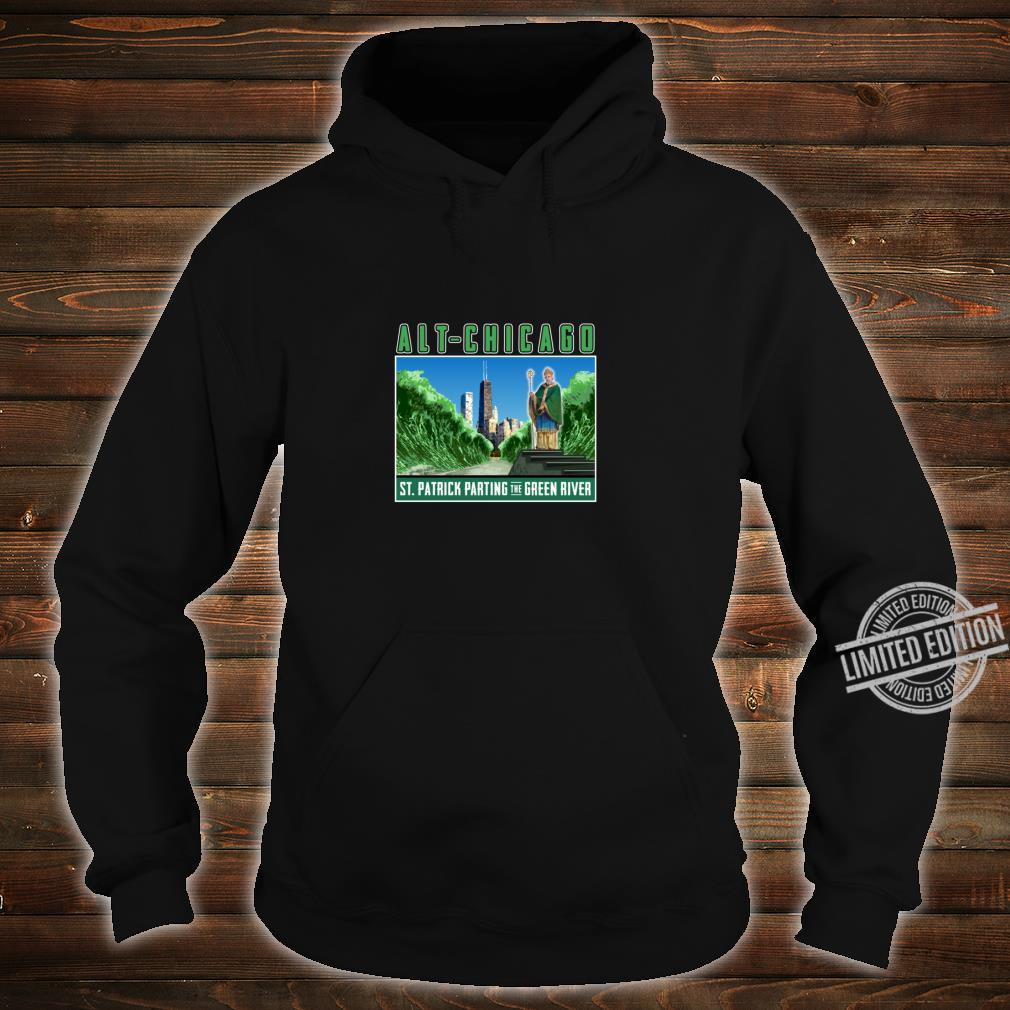 St. Patrick's Day Passover Green Chicago River Fun Crossing Shirt hoodie