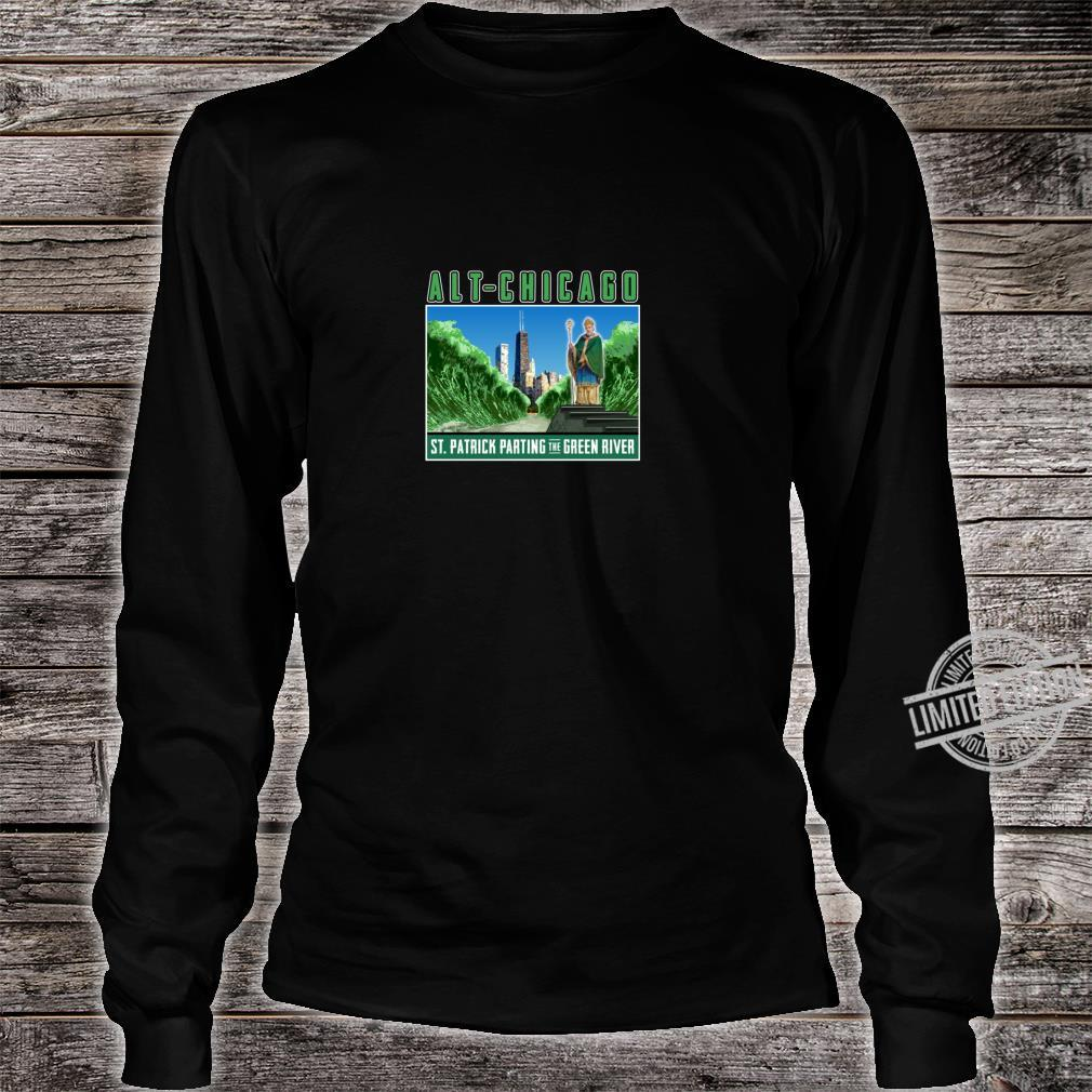 St. Patrick's Day Passover Green Chicago River Fun Crossing Shirt long sleeved