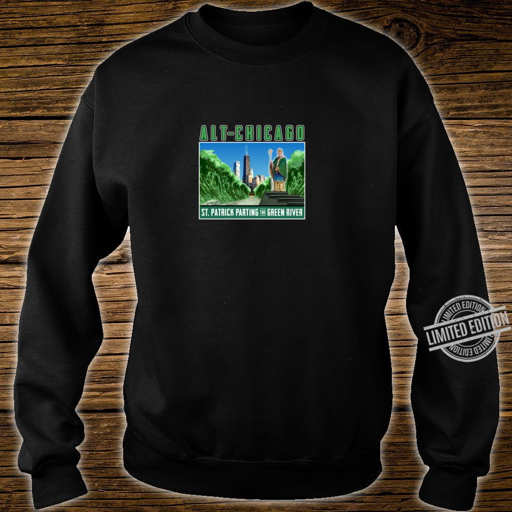 St. Patrick's Day Passover Green Chicago River Fun Crossing Shirt sweater