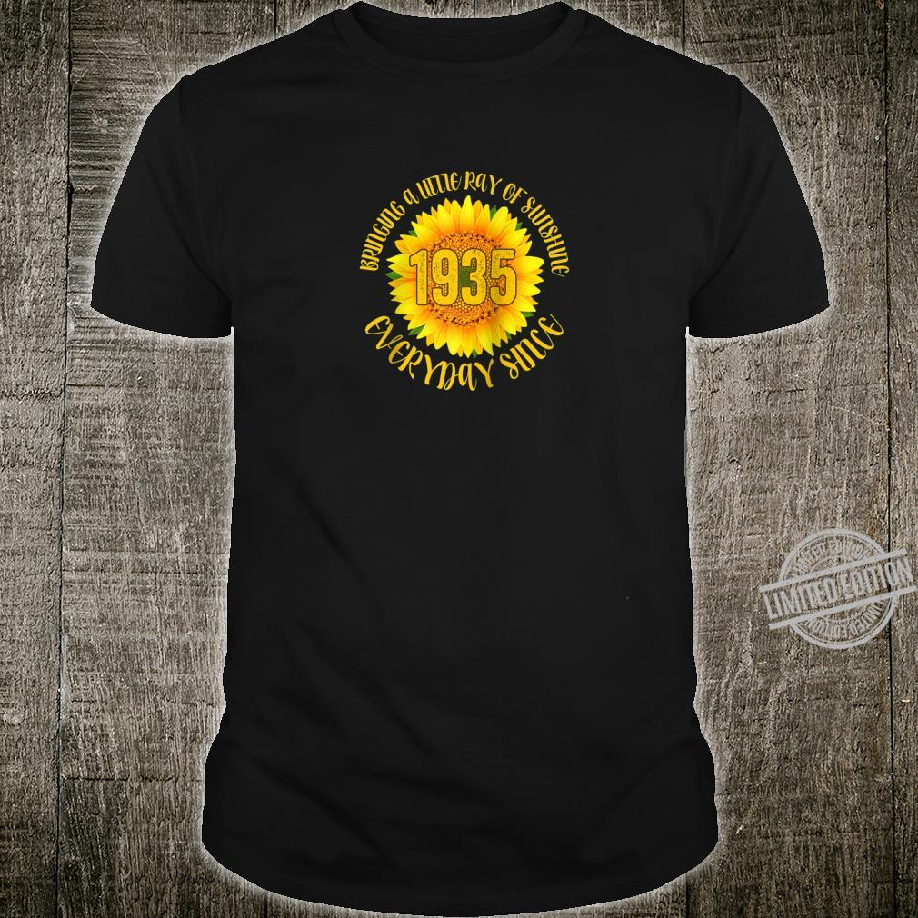 Sunflower 1935 85 Years Old 85th Birthday Shirt