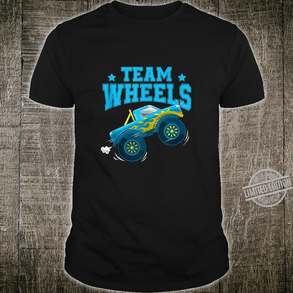 Team Wheels Truck Boy Gender Reveal Family Party Shirt