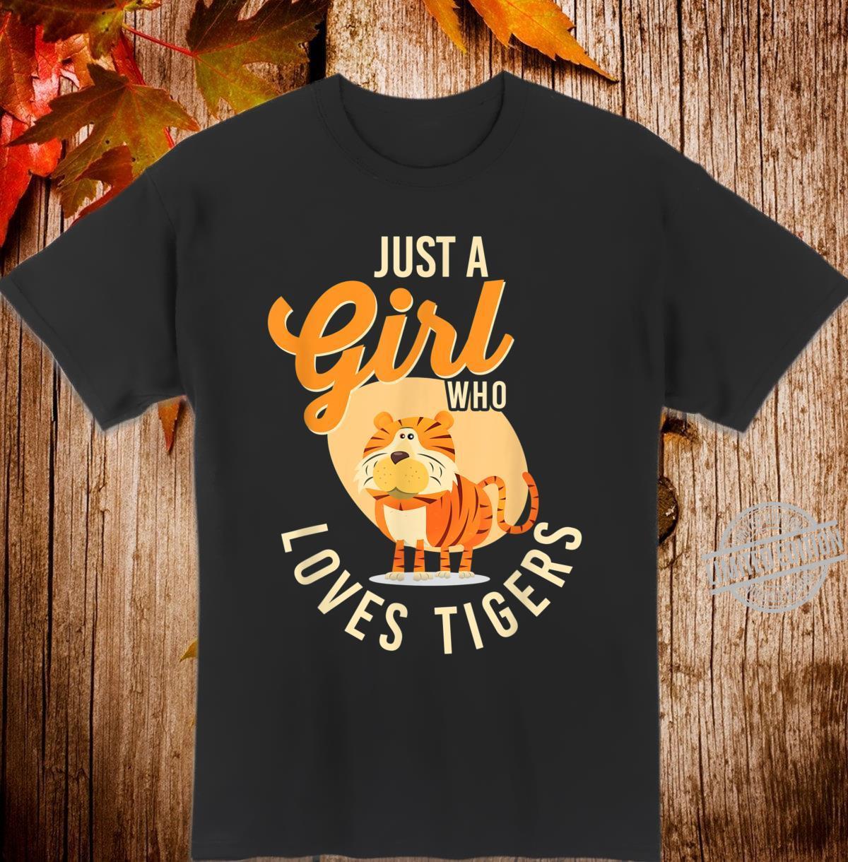 TigerTShirt Süßer Geist Tiermädchen, das Tiger liebt Shirt