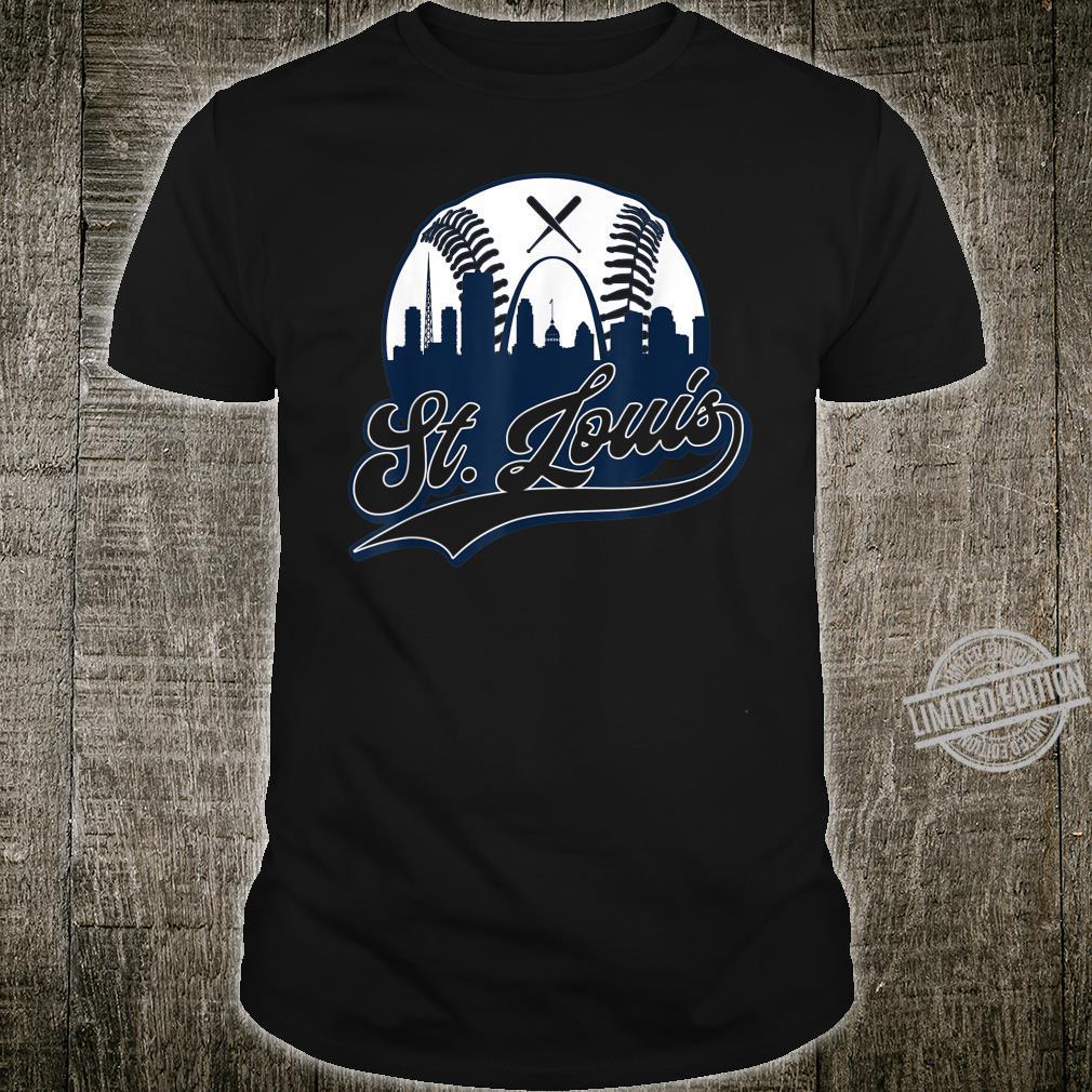 Vintage St. Louis Baseball Skyline Missouri Cardinal Shirt