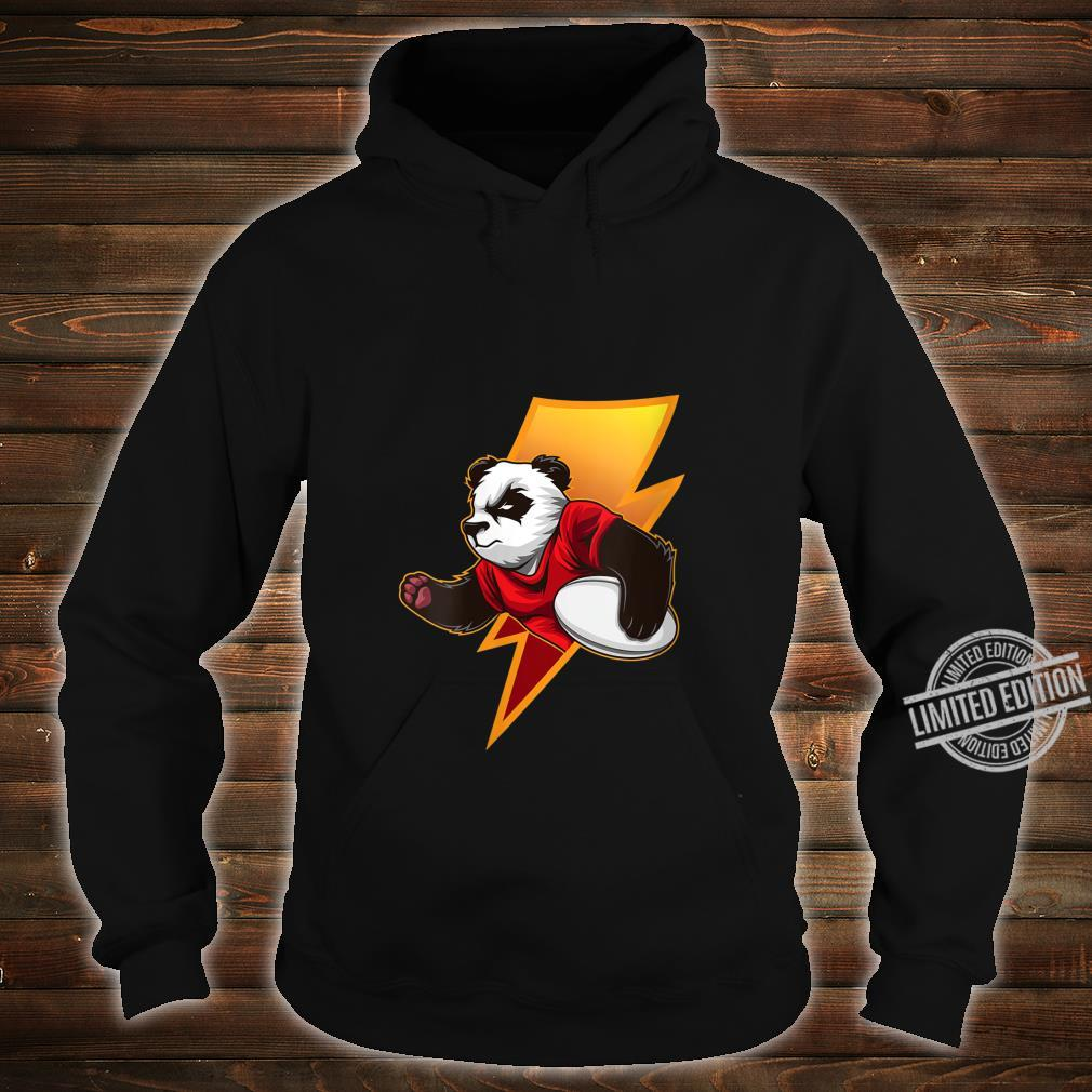 Womens Strong Panda With Rugby Ball Rugby Team Shirt hoodie