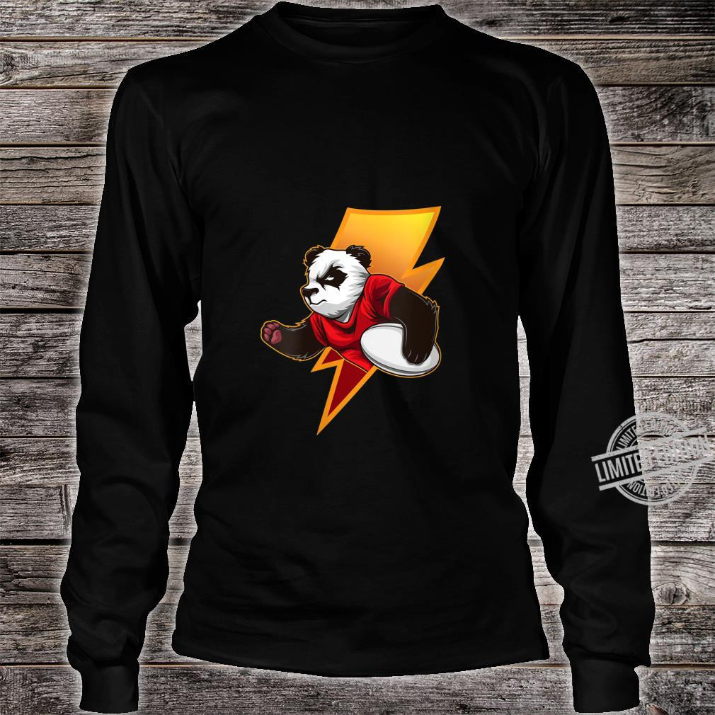 Womens Strong Panda With Rugby Ball Rugby Team Shirt long sleeved