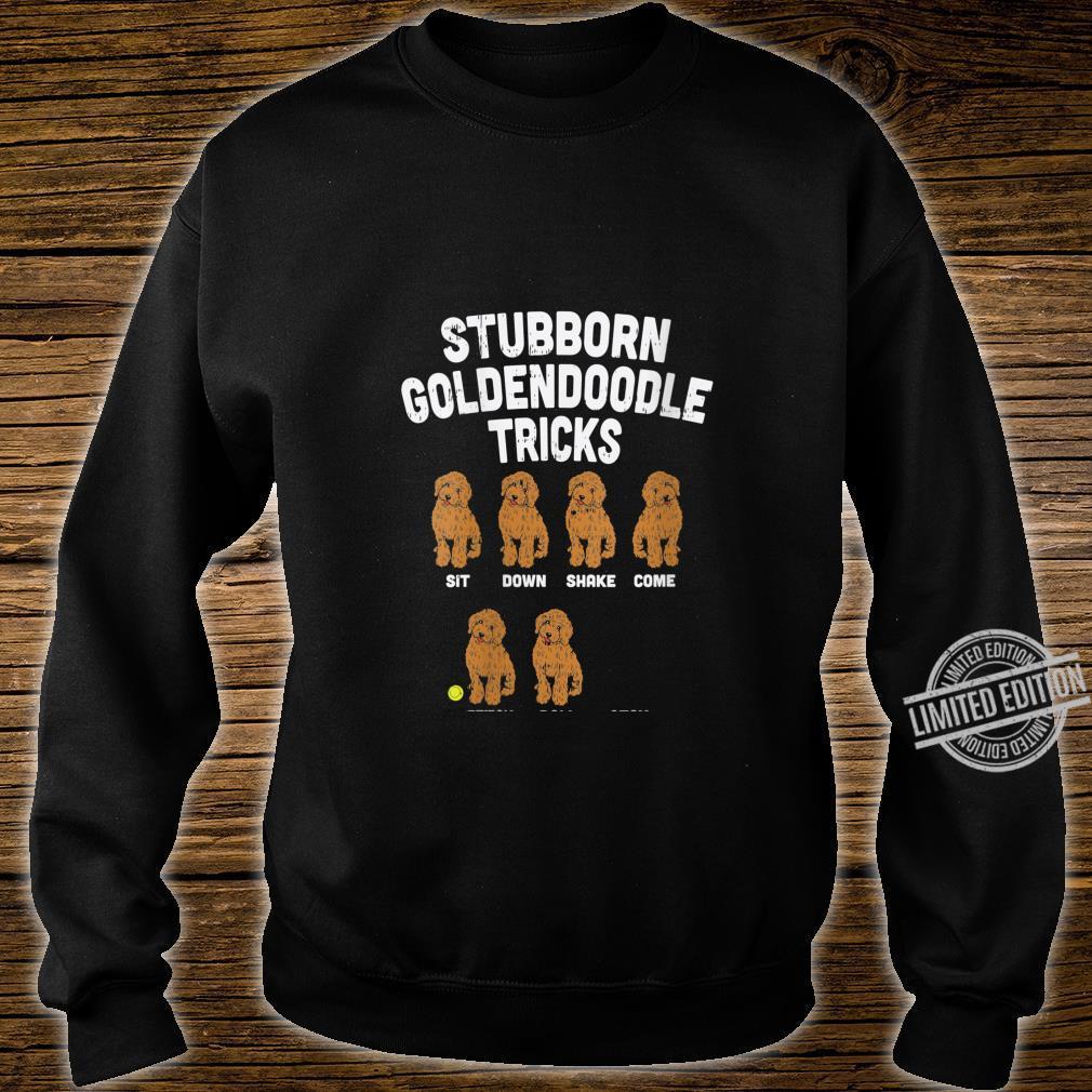 Womens Stubborn Goldendoodle Tricks Dog Trainer Mom Dad Shirt sweater