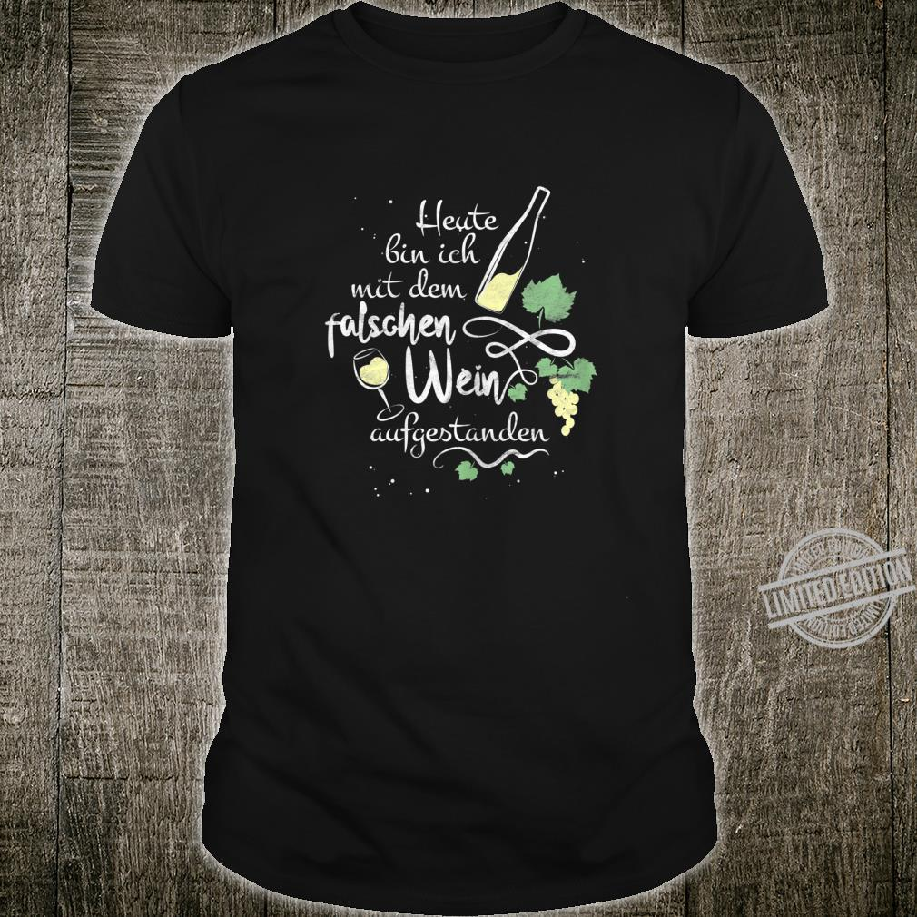 Women's Wine Slogan with Wine Glass Motif for Sommelier Shirt
