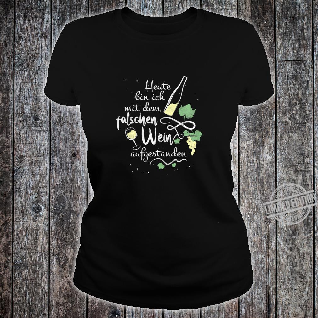 Women's Wine Slogan with Wine Glass Motif for Sommelier Shirt ladies tee